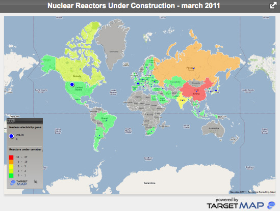 Numarul de reactoare nucleare propuse spre constructie pana in anul 2030