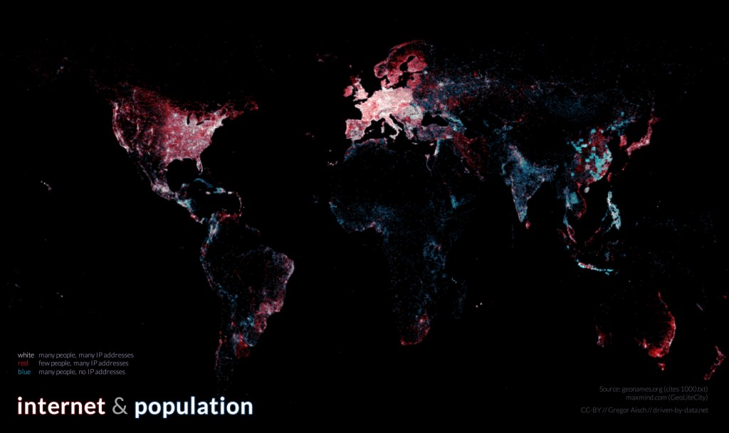 Internetul, populatia si adresele IP